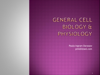 General cell biology & physiology
