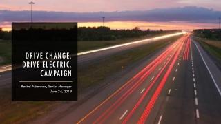 Drive change. Drive electric. campaign