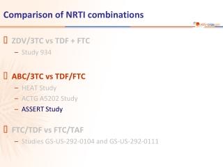 Comparison of NRTI combinations