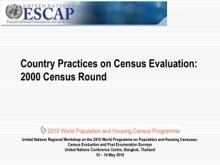 Country Practices on Census Evaluation: 2000 Census Round