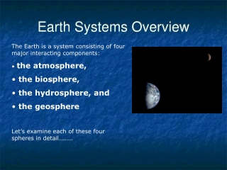 Earth Systems Overview
