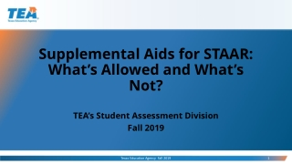 Supplemental Aids for STAAR: What's Allowed and What's Not?