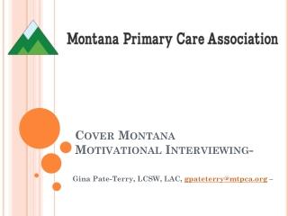 Cover Montana Motivational Interviewing-