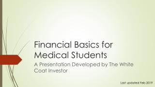 Financial Basics for Medical Students