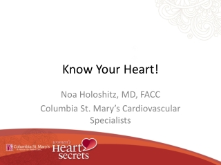 Know Your Heart!