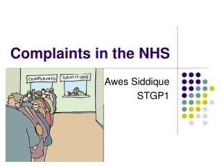 Complaints in the NHS
