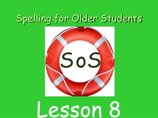 Spelling for Older Students