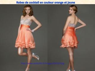 Uploading Robes de cocktail en couleur orange et jaune