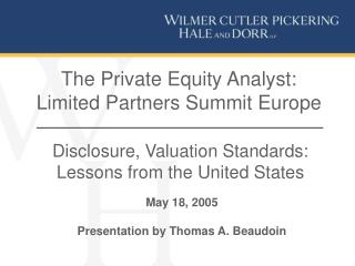 The Private Equity Analyst: Limited Partners Summit Europe