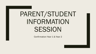 Parent/Student information session