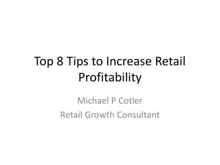 8 tips to increase Profitability