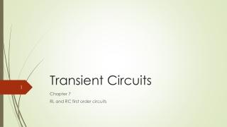 Transient Circuits