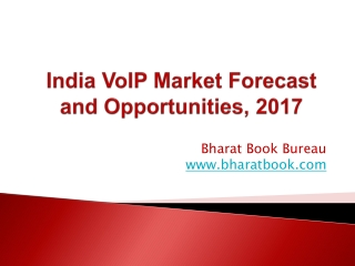 India VoIP Market Forecast and Opportunities, 2017