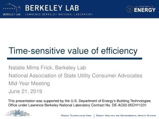 Time-sensitive value of efficiency