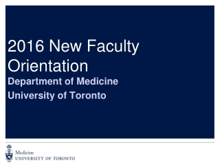 2016 New Faculty Orientation