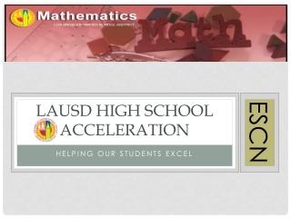 LAUSD High school Acceleration