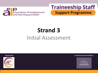 Strand 3 Initial Assessment