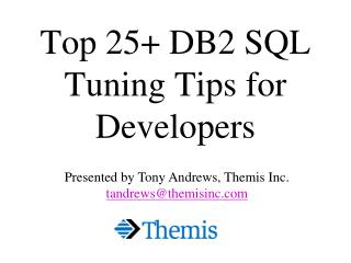 Top 25 DB2 SQL Tuning Tips for Developers