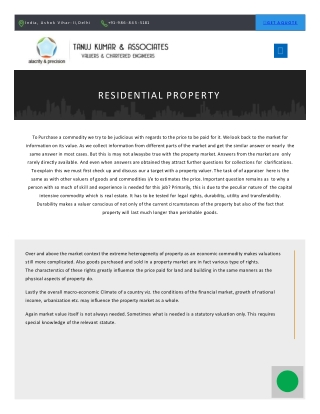 Residential Property Valuer