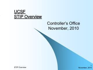 UCSF STIP Overview