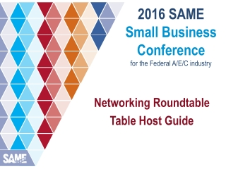2016 SAME Small Business Conference for the Federal A/E/C industry