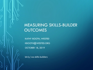 Measuring Skills-Builder Outcomes