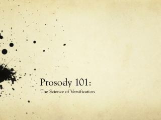 Prosody 101:
