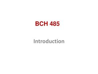 BCH 485