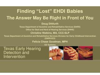 Texas Early Hearing Detection and Intervention