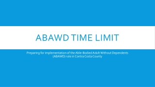 ABAWD Time Limit