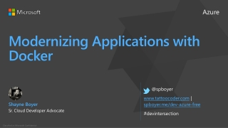 Modernizing Applications with Docker