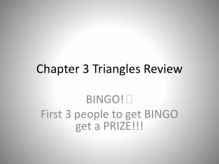 Chapter 3 Triangles Review