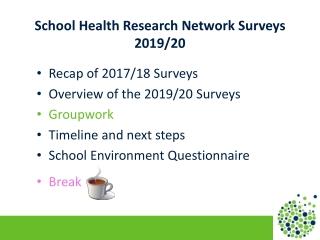 School Health Research Network Surveys 2019/20