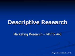 mktg research