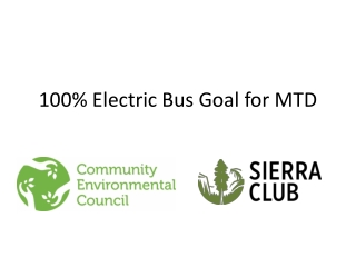 100% Electric Bus Goal for MTD