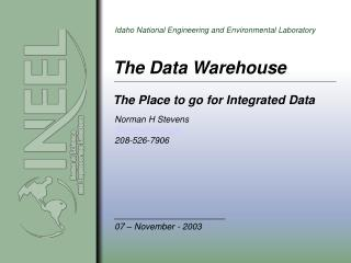 The Data Warehouse