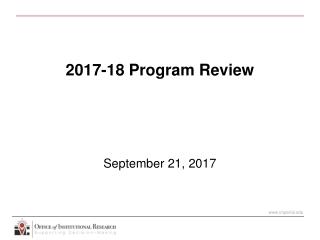 2017-18 Program Review