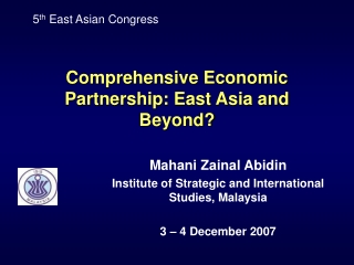 The East Asian Crisis and Business