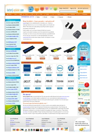 Accu Laptop,Powertool Accu, Batterij laptop,Laptop Oplader,