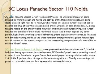 3c lotus panache noida