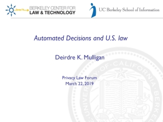 Automated Decisions and U.S. law