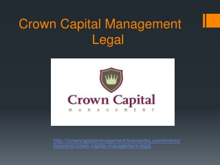 Crown Capital Management - Legal, CCM