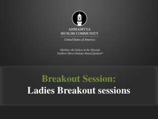 Breakout Session: Ladies Breakout sessions