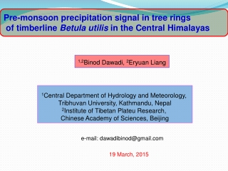 Pre-monsoon precipitation signal in tree rings