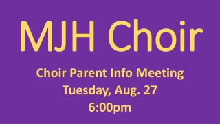 MJH Choir