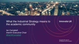 What the Industrial Strategy means to the academic community