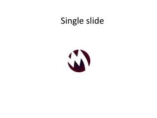 Single SLide animation