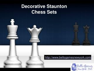 Decorative staunton Chess Sets