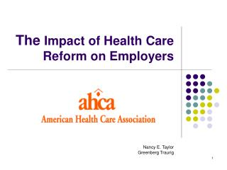 the impact of the health reform Nursing's role in healthcare reform health care reform will enable everyone the greatest impact on who we become as nurses evolves from the transition.