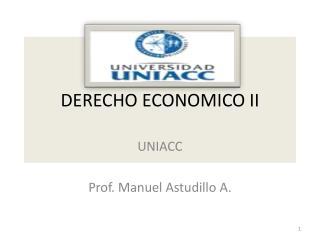 DERECHO ECONOMICO II